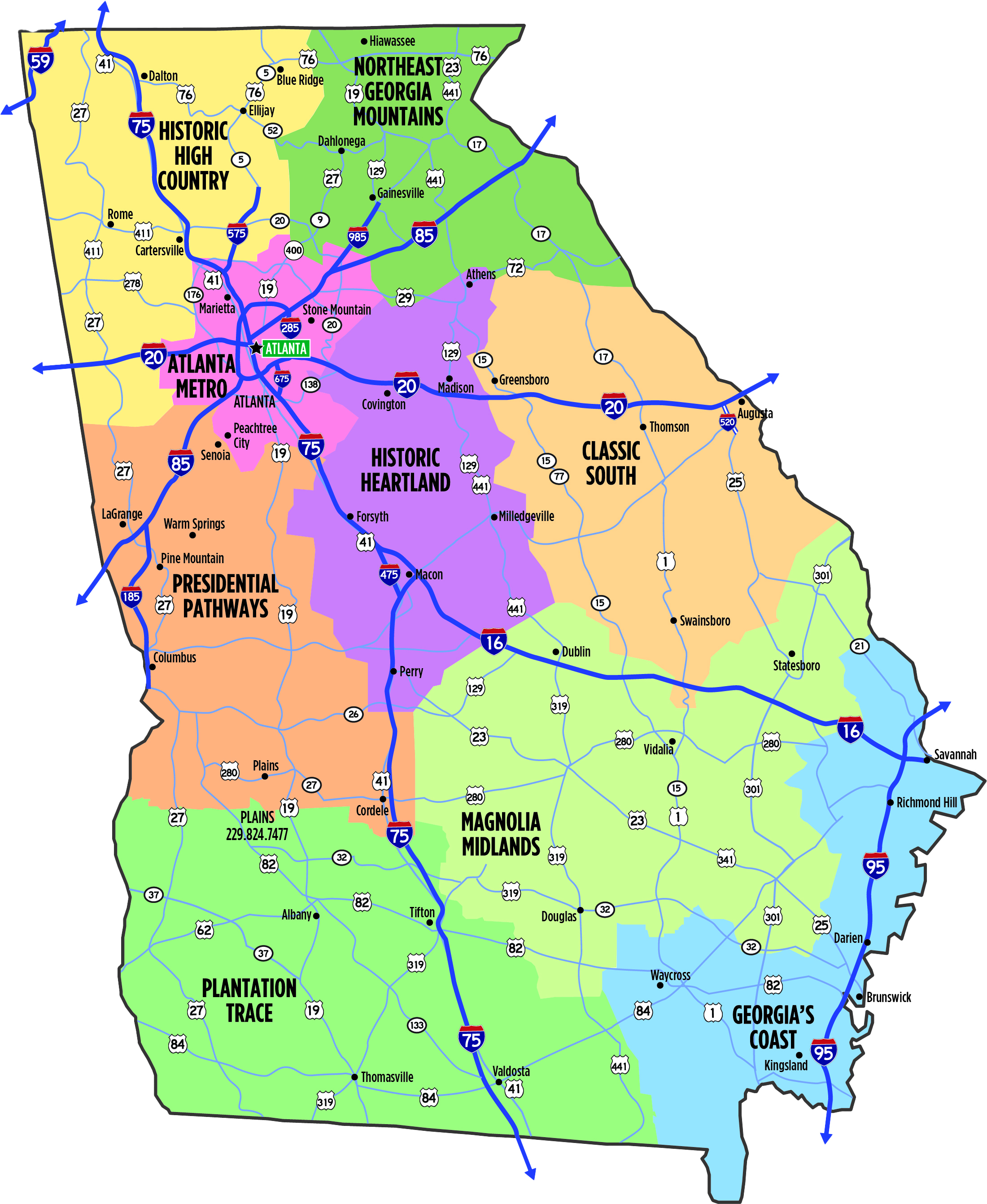 Tourism Region Map